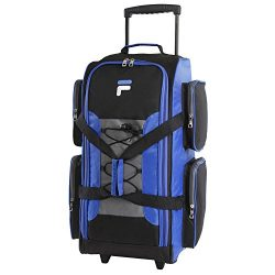 Fila 26″ Lightweight Rolling Duffel Bag, Blue, One Size