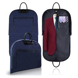 Bealatt 40″ Carry On Garment Bag for Travel, Waterproof Foldable Suit Bags for Men Women,  ...