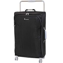IT Luggage 31.5″ World's Lightest 8 Wheel Spinner, Raven With Vapor Blue Trim