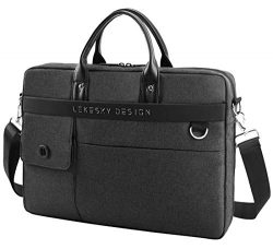Lekesky Laptop Bag 15.6 Inch Travel Briefcase Water Resistant Expandable Shoulder Bag Messenger  ...
