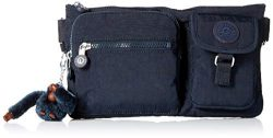 Kipling Women's Presto Convertible Waist Pack, Multi Pocket, Zip Closure, True Blue Tonal, ...