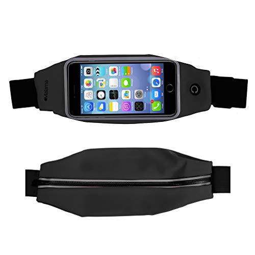 Malama Running Fanny Pack, Slim Waist Pack for iPhone Xs Max, XR and Any Large Smartphone, 3 Poc ...