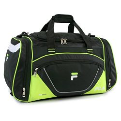Fila Acer 25″ Sport Duffel Bag, Black/Neon Green