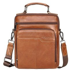 Leather Business Messenger Bag Shoulder Handbag for Men Travel Outdoor Crossbody Handbags Briefc ...