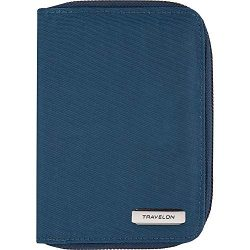 Travelon RFID Blocking Passport Zip Wallet, Ocean