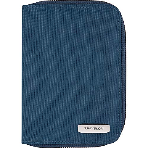 Travelon RFID Blocking Passport Zip Wallet, Ocean