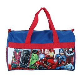 Boys Avengers 18″ Blue/Red Duffel Bag Standard