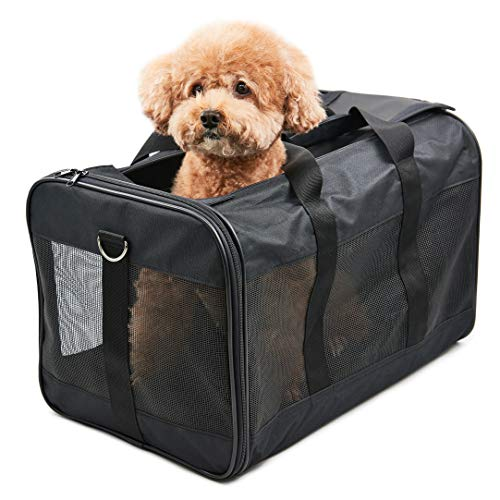 ScratchMe Pet Travel Carrier Soft Sided Portable Bag for Cats, Small Dogs, Kittens or Puppies, C ...