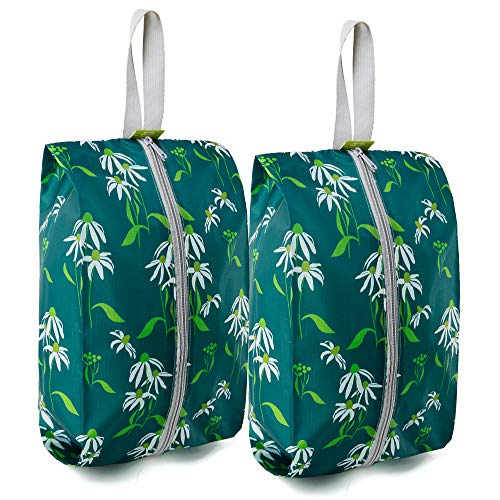 BeeGreen Shoe Bags for Storage Traveling 2 Pack with Zipper Water-resistant Portable Machine Was ...