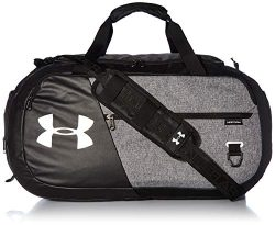Under Armour Unisex Undeniable Duffle 4.0 Gym Bag, Graphite Medium Heather (040)/Black, Medium