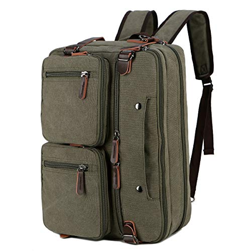 BAOSHA Convertible Briefcase Backpack 17 Inch Laptop Bag Case Business Briefcase HB-22 (Amy Green)