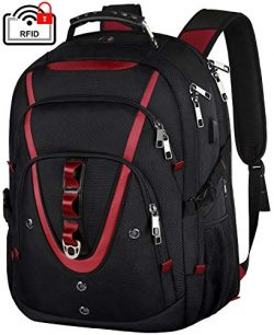 18.4 Inch Laptops Backpack, Extra Large Travel Laptop Backpack with USB Charger Port, TSA Friend ...