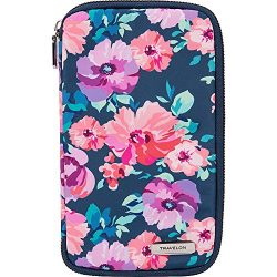 Travelon RFID Blocking Family Passport Zip Wallet, blossom Floral