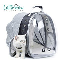 Lollimeow Pet Carrier Backpack, Bubble Backpack Carrier, Cats and Puppies,Airline-Approved, Desi ...