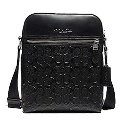 Coach Houston Flight Bag In Signature Leather Black
