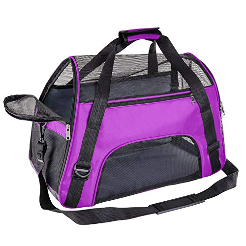 Soft Pet Carrier Airline Approved Soft Sided Pet Travel Carrying Handbag Under Seat Compatibilit ...
