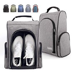 Champkey 600D Polyester High Performance Golf Shoe Bag – Removable Divider & Zippered  ...