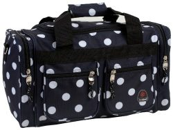 Rockland Duffel Bag, Black Dot, 19-Inch