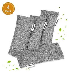 Yumybom Natural Activated Bamboo Charcoal Bags 4 Pcak, Home Air Purifying Bag, Car Odor Eliminat ...