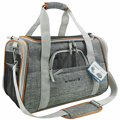 Mr. Peanut's Airline Approved Soft Sided Pet Carrier – Luxury Travel Tote with Premi ...