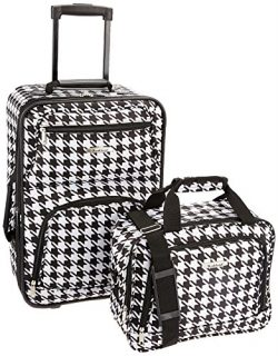Rockland Fashion Softside Upright Luggage Set, Kensington