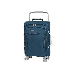 IT Luggage 22″ World's Lightest 8 Wheel Spinner, Blue Ashes With Vapor Blue Trim