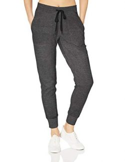 Amazon Essentials Women's Studio Terry Jogger Pant, Charcoal Heather, M