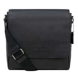 Coach F68015 Houston Map Leather Crossbody Messenger Shoulder Bag, QB/Black