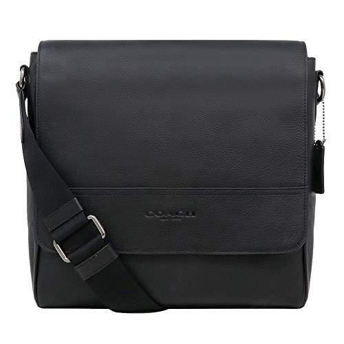 Coach F68015 Houston Map Leather Crossbody Messenger Shoulder Bag, QB/Black