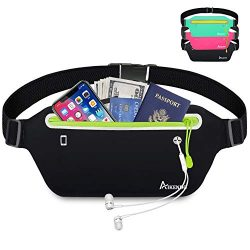 AIKENDO Slim Running Belt Fanny Pack,Fitness Waist Pouch Bag Exercis Gym Waist Pack,Jogging Belt ...