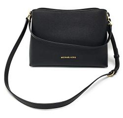Michael Kors Women's Sofia Large EW Satchel Crossbody (Black/Black)