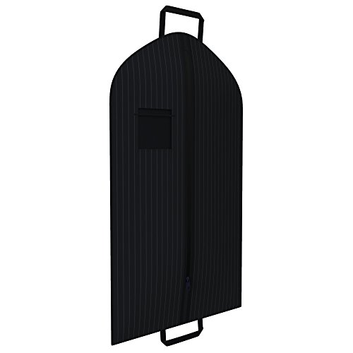 Black Suit Garment Travel Bags -ID Tag Window, Durable Heavy Duty, Lightweight