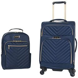 Kenneth Cole Reaction Women's Chelsea 2-Piece 20″ Expandable 4-Wheel Carry-On Suitca ...