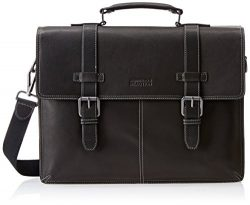 Kenneth Cole Reaction Colombian Leather Dual Compartment Flapover 13″ Laptop Business Port ...