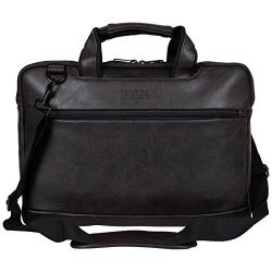 Kenneth Cole Reaction ProTec Pebbled Vegan Leather Slim 16″ Laptop & Tablet Top Zip Bu ...