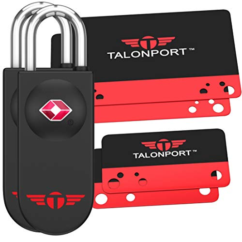 Keyless TSA Approved Luggage Locks with Lifetime Card Keys & No Combo to Forget (2 Pack)