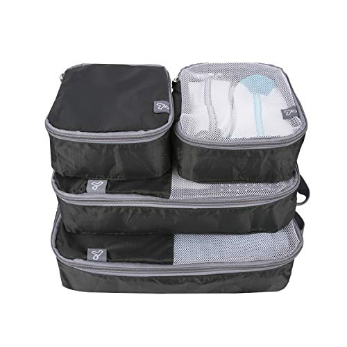 Travelon: Set of 4 – Soft Packing Organizers – Black
