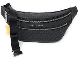 Michael Kors Kenly Medium Crossbody Waist Pack Black Signature