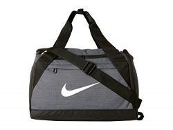 Nike Brasilia Training Duffel Bag, XS – Flint Grey/ Black/ White, 16″ x 9″ x 1 ...