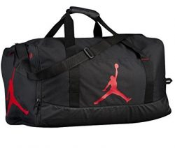 Nike Air Jordan Jumpman Duffel Sports Gym Bag Black/Red 8A1913 Wet/Dry Pocket Water Resistant