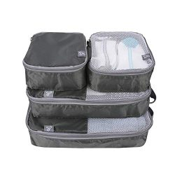 Travelon: Set of 4 – Soft Packing Organizers – Charcoal