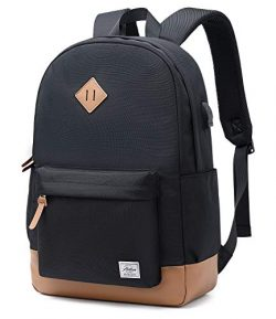 Abshoo Classical Basic Womens Travel Backpack For College Men Water Resistant Laptop School Book ...