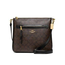 Coach F77885 Mae Signature Zip Large Crossbody Bag