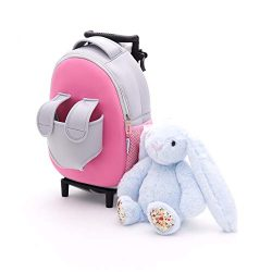 Funday Kids Backpack with Removable Wheels – Little Kids Luggage Backpack with Animal Toy  ...