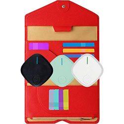 Giftaway RFID-Wallet-Passport Holder for Women and Men Red w/ 1 Key Finder