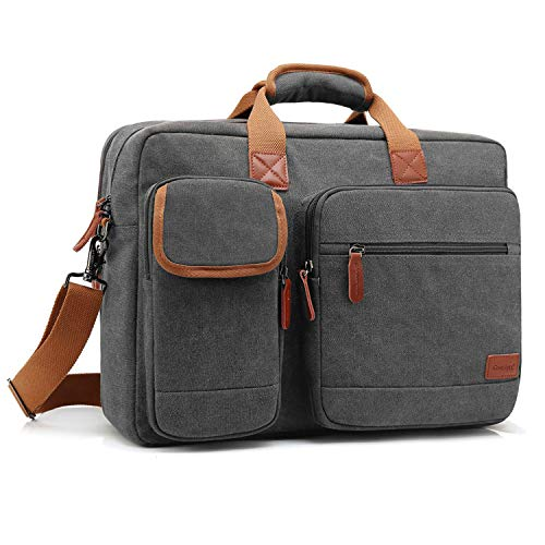 CoolBELL 17.3 Inches Laptop Messenger Bag Briefcase Protective Shoulder Bag Multi-Functional Bus ...
