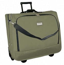 Geoffrey Beene Deluxe Rolling Garment Bag – Travel Garment Carrier With Wheels – Oli ...