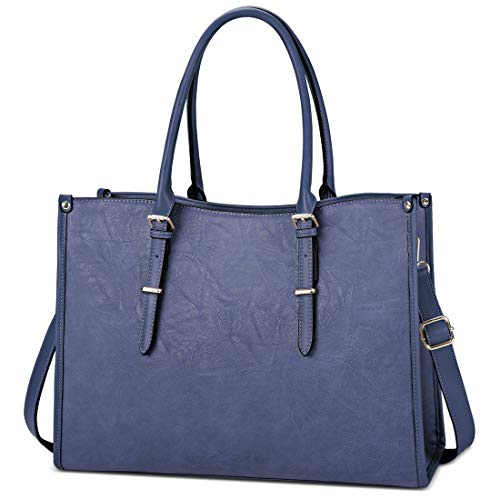 Laptop Bag for Women 15.6 Inch Waterproof Lightweight Leather Laptop Tote Bag Womens Professiona ...