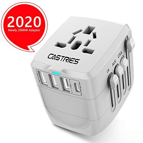Castries Universal Travel Adapter All-in-one Travel Charger Worldwide Travel Socket Internationa ...