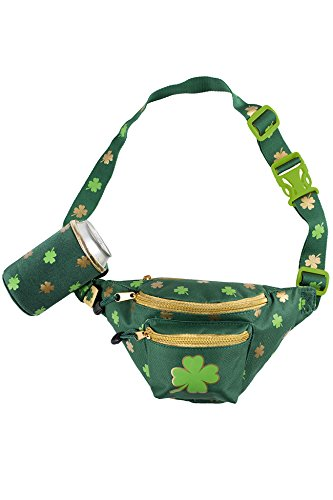 Green and Gold St. Patrick's Day Clover Fanny Pack w/Drink Holder – St. Paddy' ...
